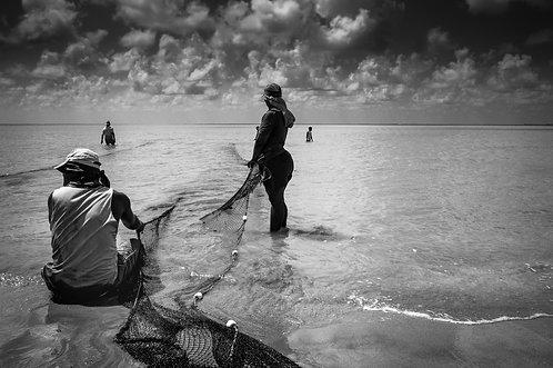 A rede (le filet) tirage 90 X 60 cm, 135 x 90 plein format, Patrick Raymond