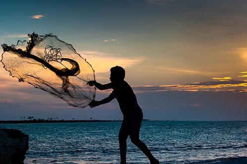 Le Jeune pêcheur (Yucatan)  Tirage 90 X 60 cm, 135 x 90 plein format, Patrick Raymond