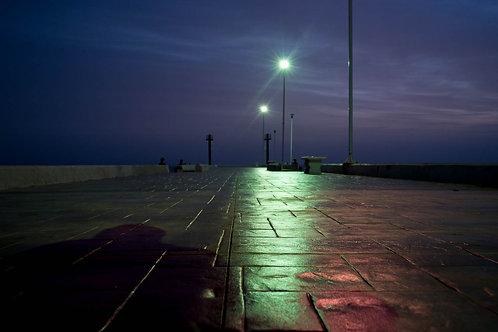 Nuit sur le môle (Mexique)  Tirage 90 X 60 cm, 135 x 90 plein format, Patrick Raymond