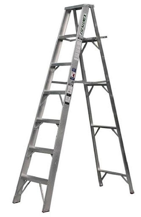 Escalera De Aluminio Escalumex 2.13 Mts Cap. 90 Kg, 7 Peldaños