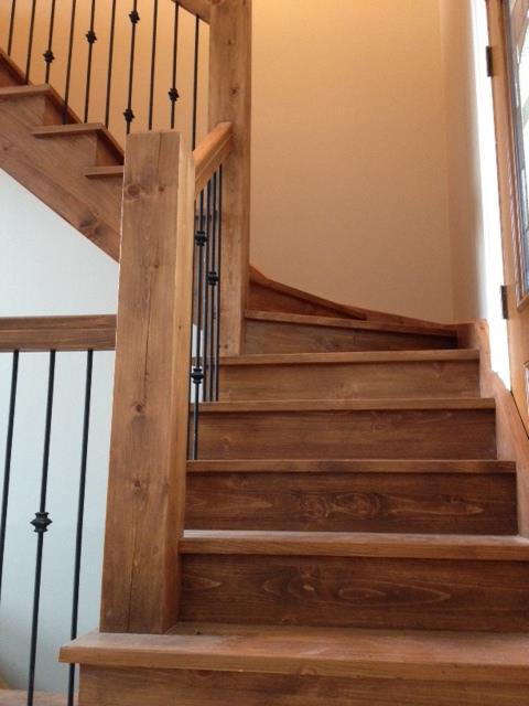 Open one-side Winder stair