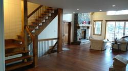 Open two-side, Open riser stair
