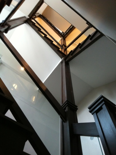 Glass and wood railing system