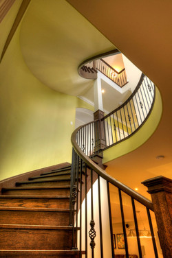 Open one-side circular stairs