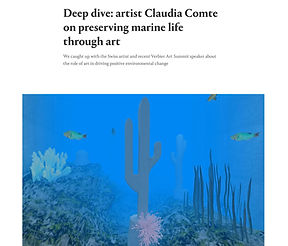 Artist Claudia Comte on conserving marin
