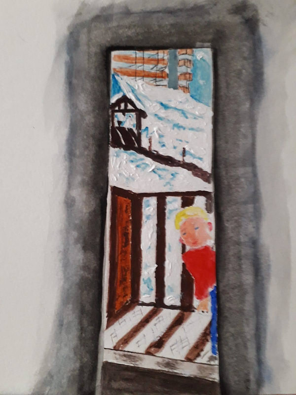 Christina Its cold outside gouache and a