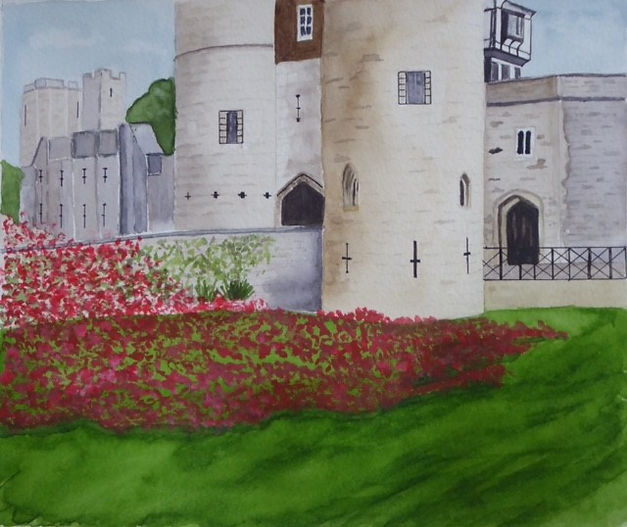 Shirley Clermont Poppy display Tower of