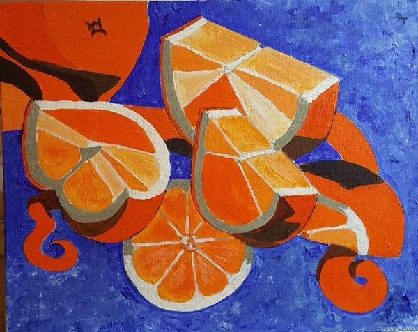 Liz Orange Pieces acrylic.jpg