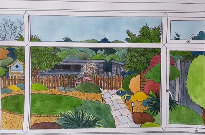 Liz My garden pen and watercolour.jpg