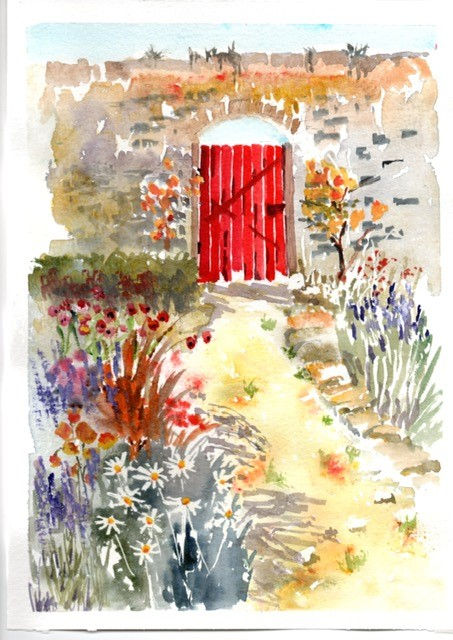 Maggie red gate.jpg