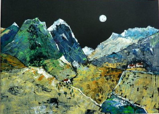 Maggie mountains by moolight acrylic.jpg
