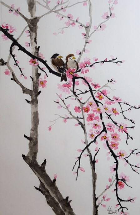 Liz Cherry blossom with birds.jpg