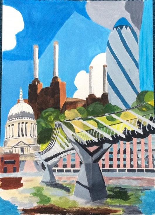 Joy 1930s Underground Poster of London S