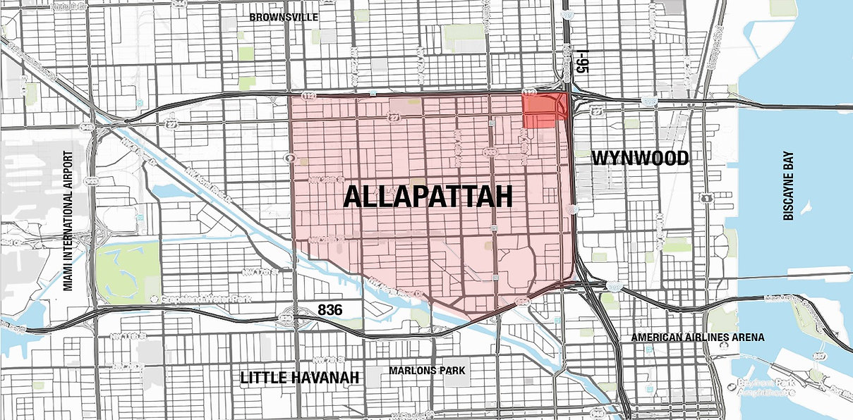 map of allapattah