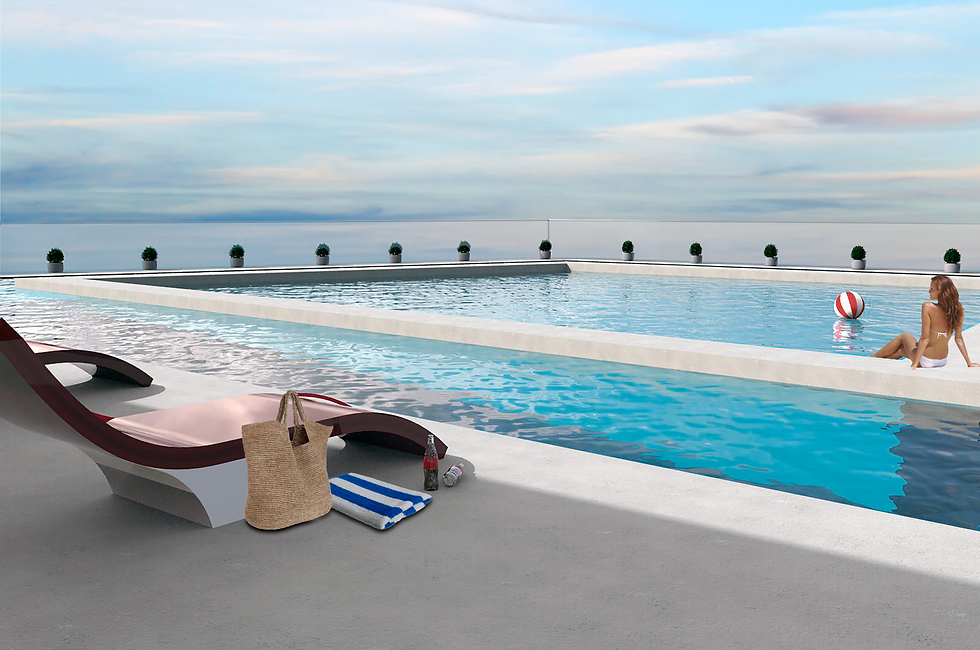 rooftop pool in wynwood