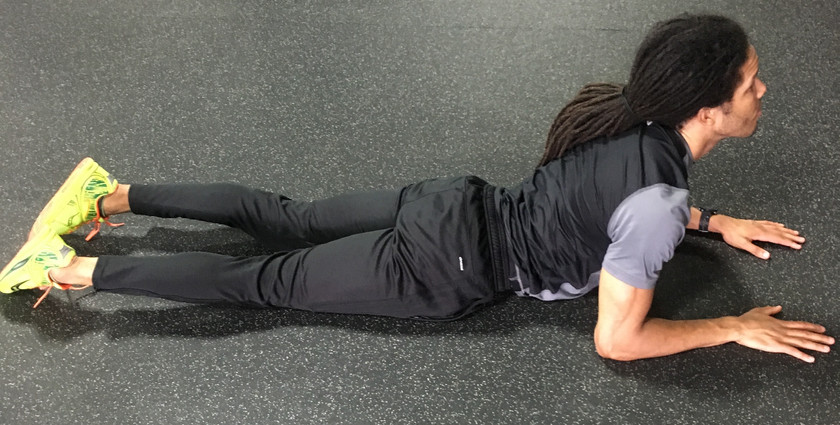 Prone Press Up Stretch