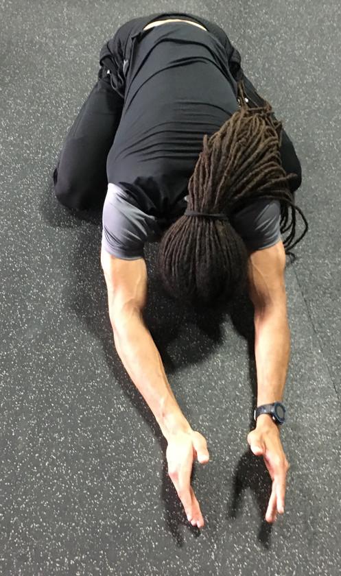Kneeling Lower Back Stretch