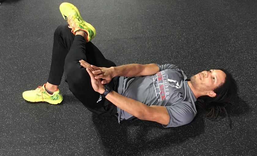 Cross Leg Stretch