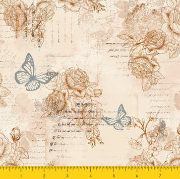 Words Butterfly Beige