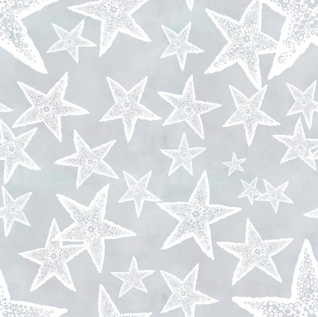 Sea Stars on Grey
