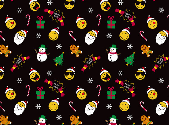 Christmas Santa Black