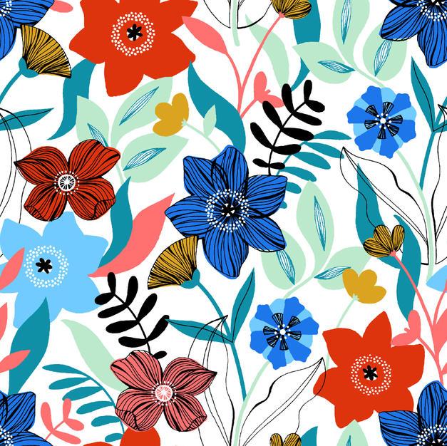 Multiple Flowers White
