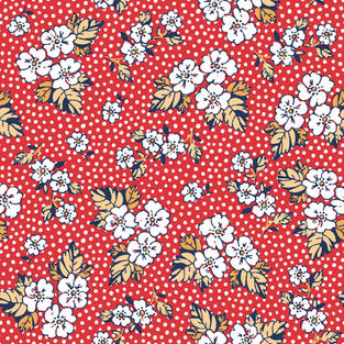 Floral Dot Raspberry