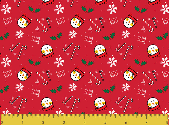 Christmas Snowman Red
