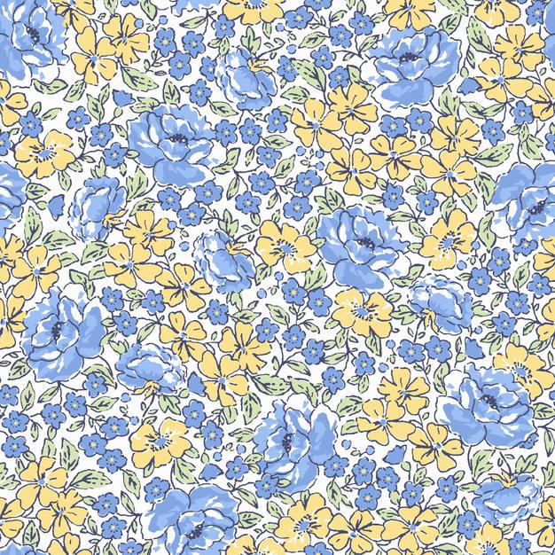 Blossom Cerulean & Yellow