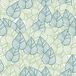 Leaves with lines