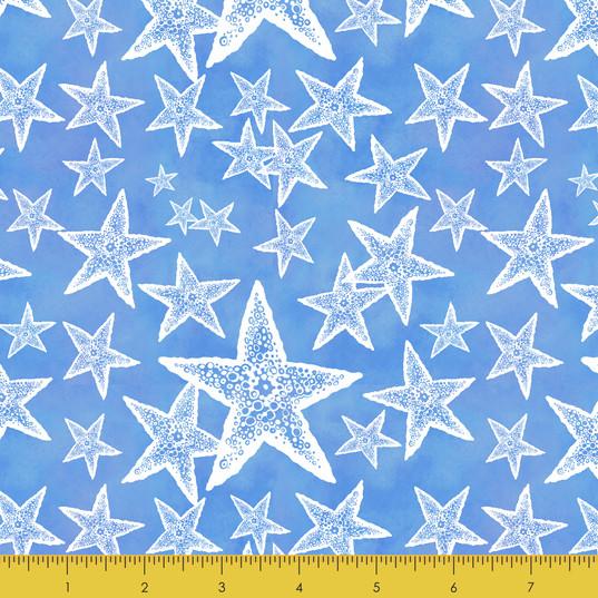 Sea Stars on Blue