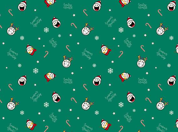 Christmas Snowman Green