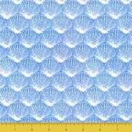 White line Shell on Blue