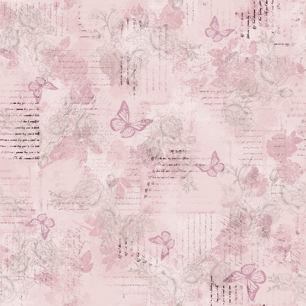 Words Butterfly Lavender