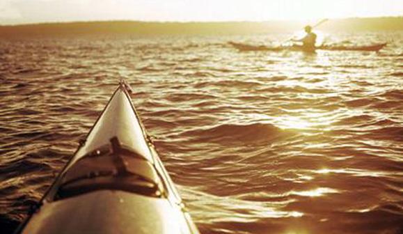 Kayak en Baie