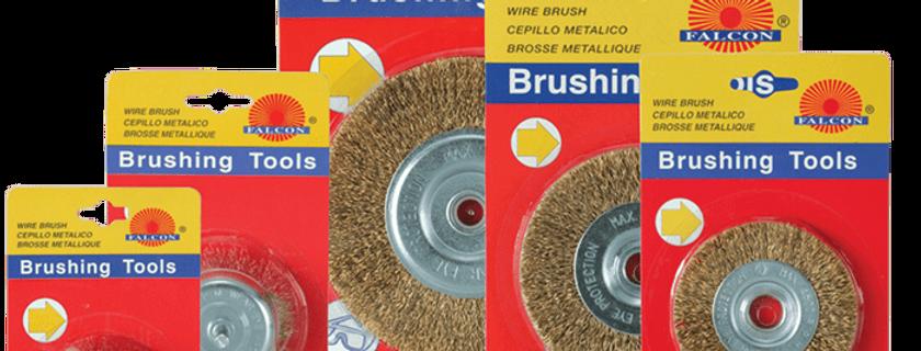 Wheel brushes with shaft