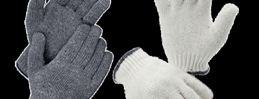 Cotton Gloves (600g) GL02-C600B (White/Darkblue)  GL02-G600B (Gray/Darkblue)