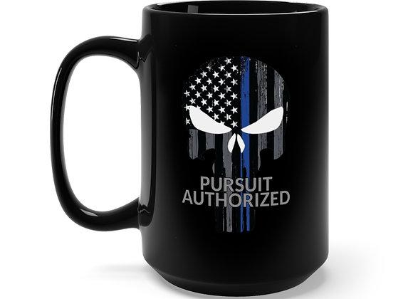 Pursuit Authorized - Black Mug 15oz