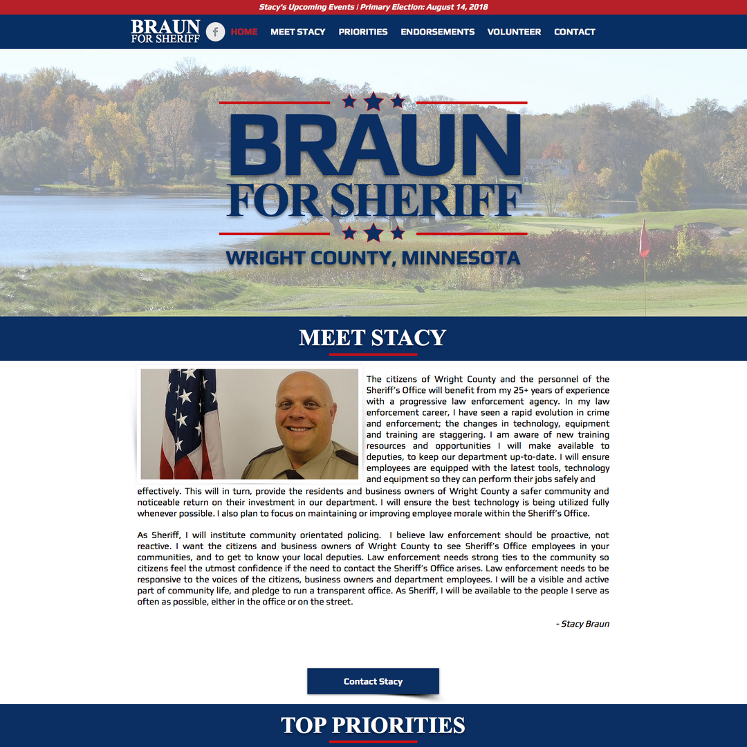 Stacy Braun for Wright County Sheriff