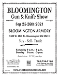 2021 Gun Show - Flyer BLOOMINGTON 9-25-2