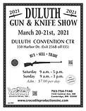 2021 Gun Show - Flyer DULUTH 2-13-2021.p