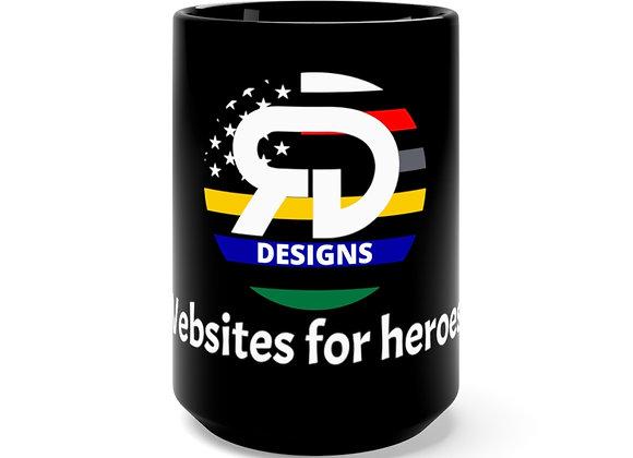 RD Designs | Websites for heroes - Black Mug 15oz