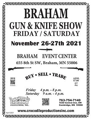 2021 Gun Show - Flyer Braham 26-27 NOVEM