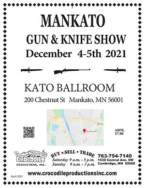 2021 Gun Show - Flyer MANKATO 4-5th DECE