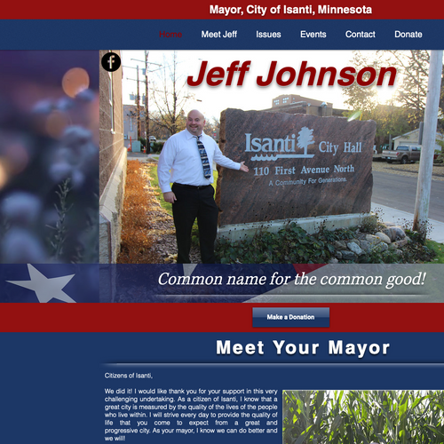 Jeff Johnson, Mayor of Isanti, Minnesota
