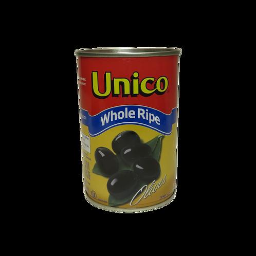Unico Whole Ripe Olives (canned)