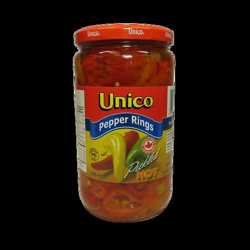 Unico Pepper Rings – Pickled Hot