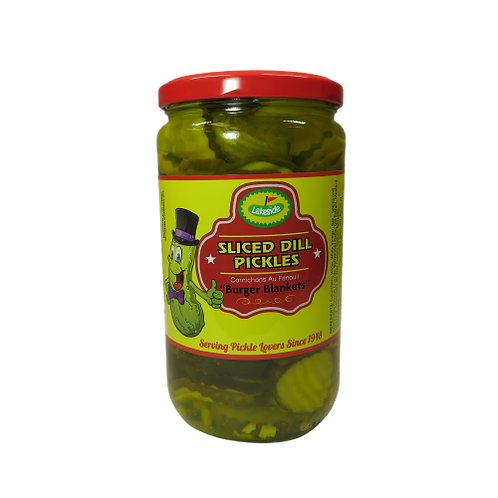 Lakeside Sliced Dill Pickles – Burger Blankets