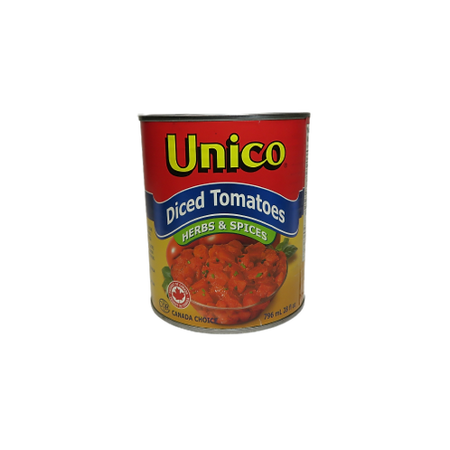 Unico Diced Tomatoes – Herbs & Spices