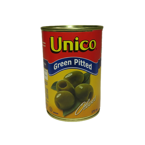 Unico Green Pitted Olives (canned)